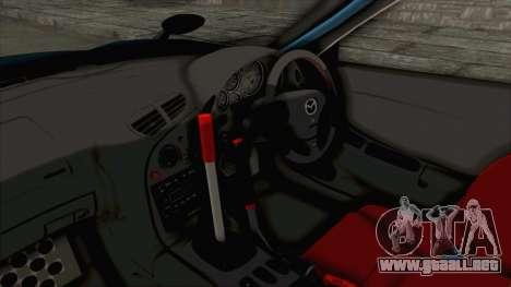 Mazda RX-7 FD3S Rocket Bunny v2 para visión interna GTA San Andreas