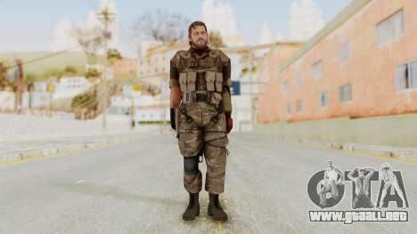 MGSV The Phantom Pain Venom Snake No Eyepatch v9 para GTA San Andreas segunda pantalla
