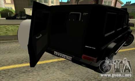 Mercedes G55 Kompressor para vista inferior GTA San Andreas