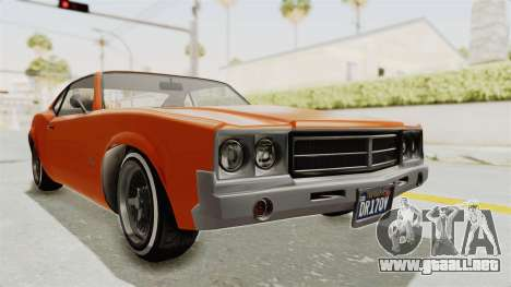 GTA 5 Declasse Sabre GT2 B para la visión correcta GTA San Andreas