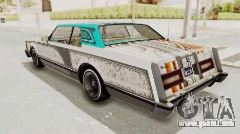 GTA 5 Dundreary Virgo Classic Custom v3 para el motor de GTA San Andreas