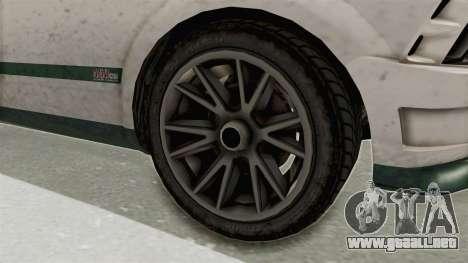 GTA 5 Vapid Dominator v2 SA Style para GTA San Andreas vista hacia atrás