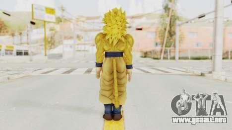Dragon Ball Xenoverse Goku SSJ4 Golden para GTA San Andreas tercera pantalla
