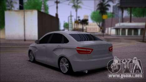 Lada Vesta Stock para GTA San Andreas vista posterior izquierda