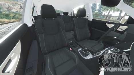 GTA 5 Infiniti FX S50 delantero derecho vista lateral