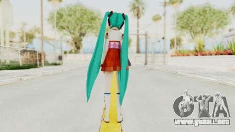 Project Diva F2nd - Hatsune Miku (Shrine Maiden) para GTA San Andreas tercera pantalla