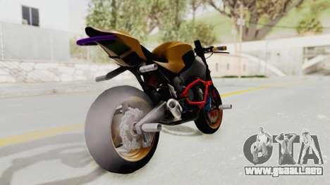 Honda CBR1000RR Naked Bike Stunt para GTA San Andreas left