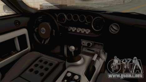 Ford GT 2005 Monster Truck para GTA San Andreas vista hacia atrás