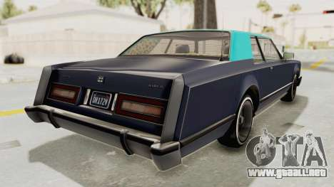 GTA 5 Dundreary Virgo Classic Custom v2 IVF para GTA San Andreas left