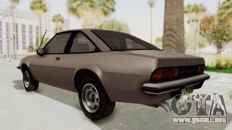 Vauxhall Cavalier MK1 Coupe para GTA San Andreas vista posterior izquierda