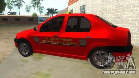 Dacia Logan Scoala para GTA San Andreas left