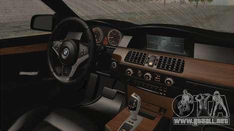 BMW 530D E60 para visión interna GTA San Andreas
