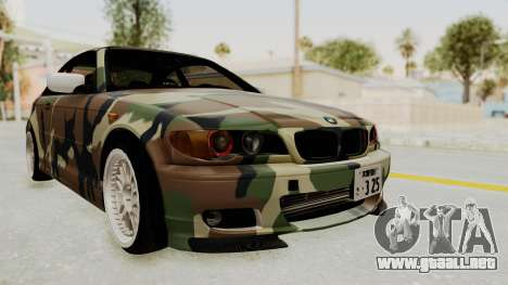 BMW 3 Series E46 para GTA San Andreas vista posterior izquierda