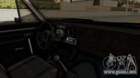Chevrolet Nova 1969 StreetStyle para visión interna GTA San Andreas