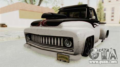 GTA 5 Slamvan Lowrider PJ1 para GTA San Andreas vista posterior izquierda