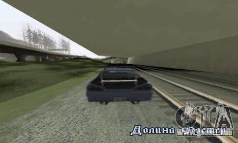 Estándar Elegía con un alerón retráctil para GTA San Andreas vista hacia atrás