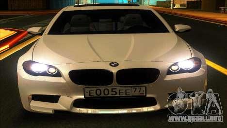 BMW M5 F10 2012 para GTA San Andreas left