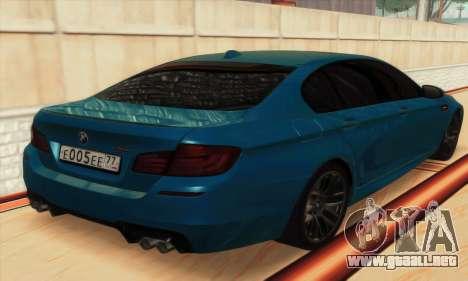 BMW M5 F10 2012 para GTA San Andreas interior