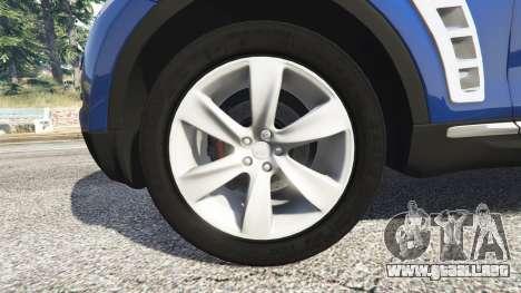 GTA 5 Infiniti FX S50 vista lateral trasera derecha