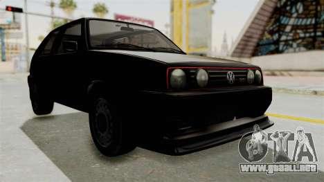Volkswagen Golf 2 Tuning para la visión correcta GTA San Andreas