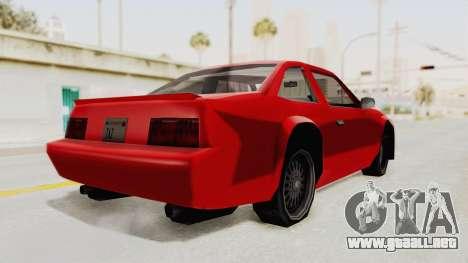 Imponte Centauro - Civil Hotring Racer A para GTA San Andreas vista posterior izquierda