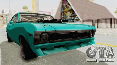 Chevy Nova 454 para la visión correcta GTA San Andreas