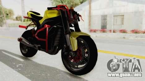 Kawasaki Ninja ZX-10R Nakedbike Stunter para GTA San Andreas vista posterior izquierda