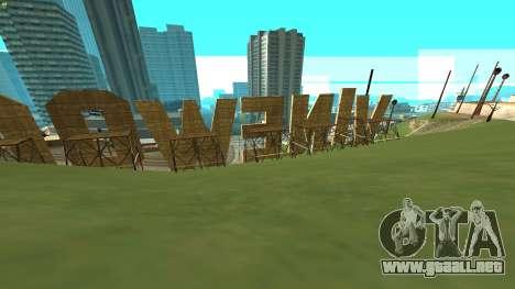New Vinewood Russia para GTA San Andreas segunda pantalla