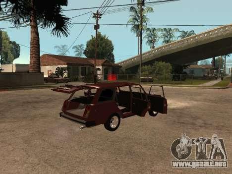 VAZ 2104 para GTA San Andreas vista hacia atrás