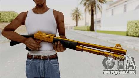 XM1014 Gold para GTA San Andreas tercera pantalla