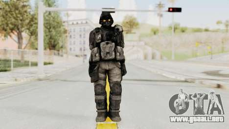 Helghan Assault Trooper without Pipes para GTA San Andreas segunda pantalla