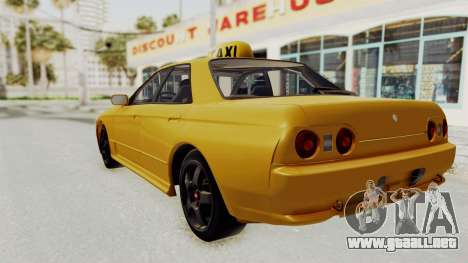 Nissan Skyline R32 4 Door Taxi para GTA San Andreas left