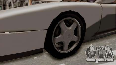 Jester Supra para GTA San Andreas vista hacia atrás
