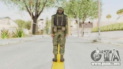 MGSV Ground Zeroes US Pilot v2 para GTA San Andreas tercera pantalla