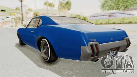 GTA 5 Declasse Sabre GT2 A para GTA San Andreas left