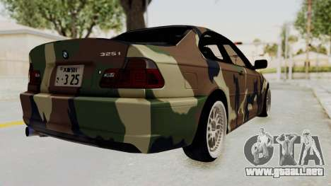 BMW 3 Series E46 para GTA San Andreas left
