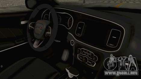 Dodge Charger RT 2015 para visión interna GTA San Andreas