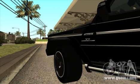 Mercedes G55 Kompressor para vista lateral GTA San Andreas