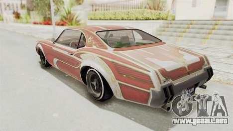 GTA 5 Declasse Sabre GT2 B para GTA San Andreas interior