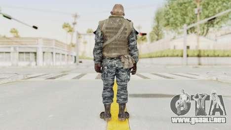 COD BO Russian Spetznas Flak MP v4 para GTA San Andreas tercera pantalla