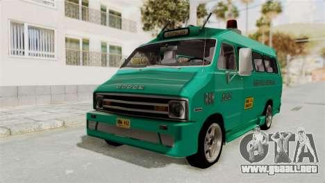 Dodge Ram Van Microbus 1977 para la visión correcta GTA San Andreas