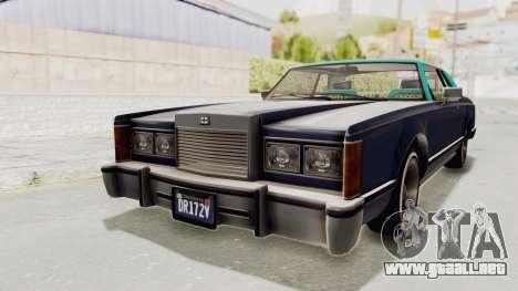 GTA 5 Dundreary Virgo Classic Custom v2 IVF para la visión correcta GTA San Andreas
