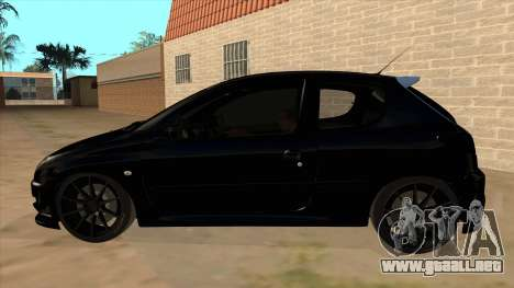 Peugeot 206 MO Edit para GTA San Andreas left