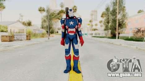 Marvel Heroes - Iron Patriot para GTA San Andreas segunda pantalla