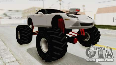Chevrolet Corvette C6 Monster Truck para la visión correcta GTA San Andreas