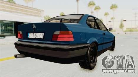 BMW 325i E36 para la visión correcta GTA San Andreas