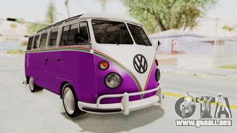 Volkswagen T1 Station Wagon De Luxe Type2 1963 para la visión correcta GTA San Andreas