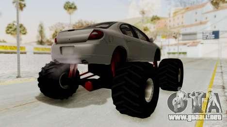 Dodge Neon Monster Truck para la visión correcta GTA San Andreas