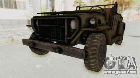 MGSV Jeep No LMG para la visión correcta GTA San Andreas