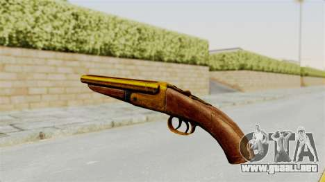 Sawnoff Gold para GTA San Andreas segunda pantalla